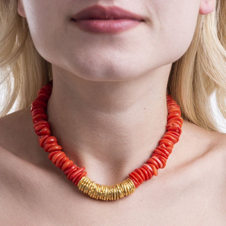 Glass Coral Necklace
