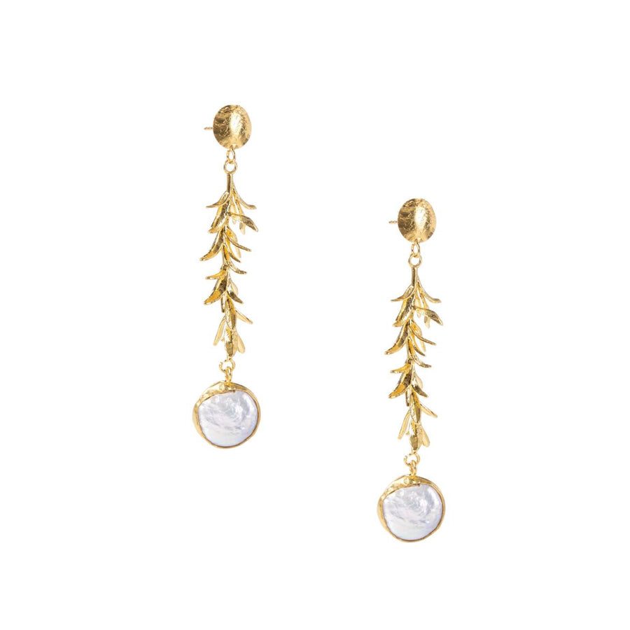 Seagrass Pearl Earrings