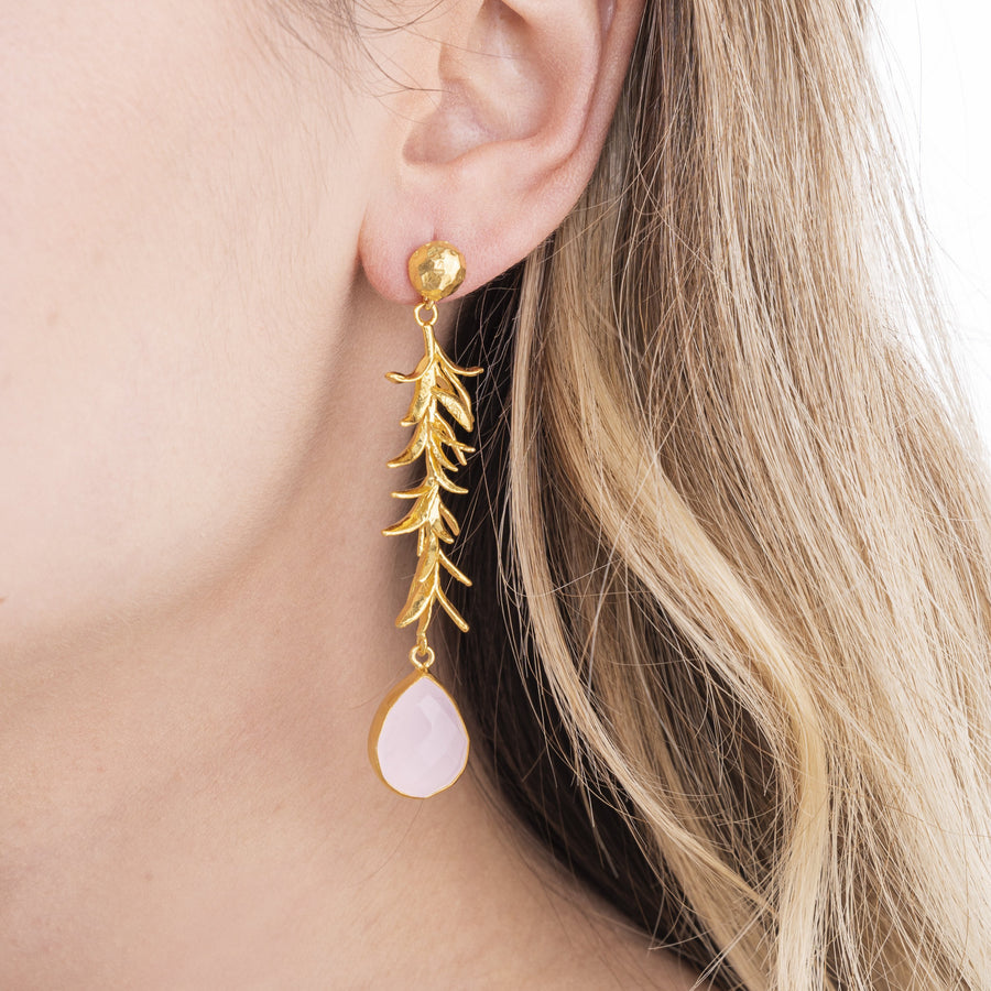 Rose Seagrass Earrings