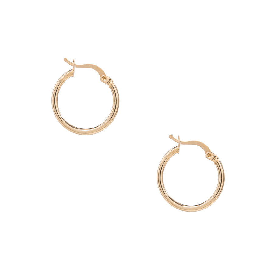 14k Solid Gold Thin Hoops (small)