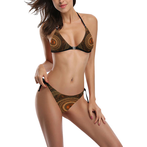 Image of Australia Swimsuit Buckle Front Halter Bikini Aboriginal 09
