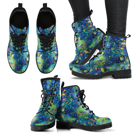 Australia Womens Leather Boots Opal Gemstone