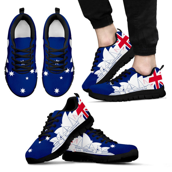 1stAustralia Sneakers - Sydney Opera Shoes Aus Flag - Unisex - Th7