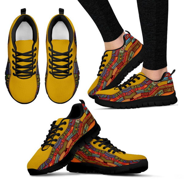 1stAustralia Sneakers - Pattern Motifs Shoes - Unisex - K5