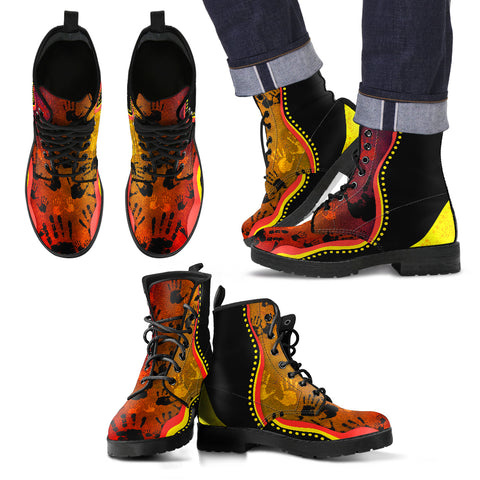 Australia Aboriginal Boots (Leather) - Golden Style