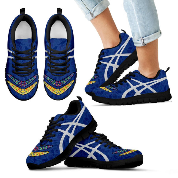 1stAustralia Sneakers - Boomerang Patterns Shoes - Unisex - Bn09