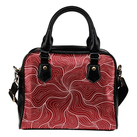 1stAustralia Aboriginal Shoulder Handbag, Australian Red Dot Painting Bag