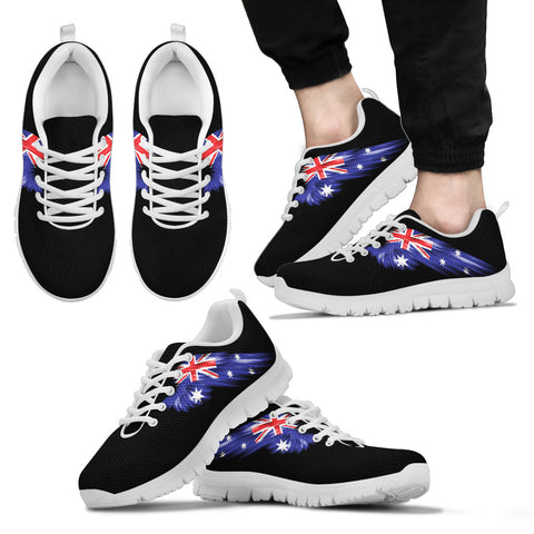 Image of Australia Flag Wings Black Sneakers