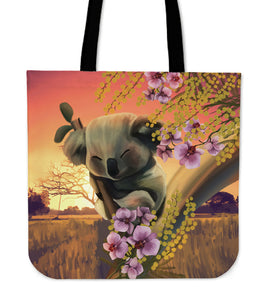 Australia Tote Bags Koala Sleeping On Tree