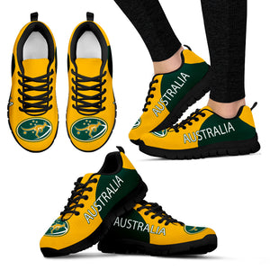 Australia Shoes Yellow And Green Color Version