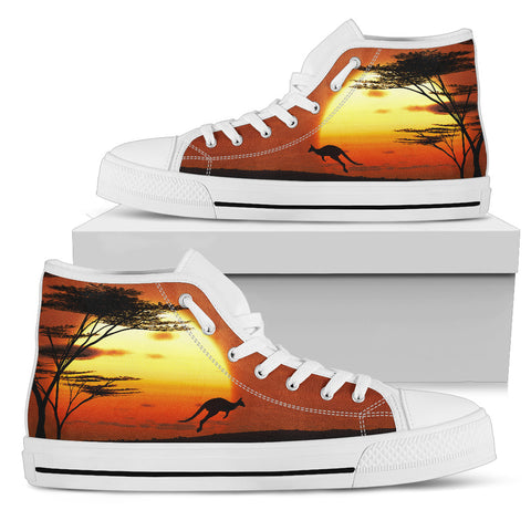 Image of Australia High Top Shoes Kangaroo Sunset TH1