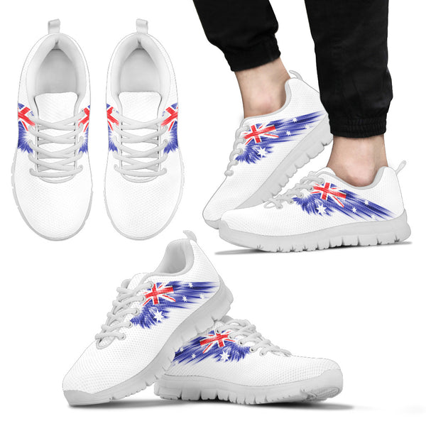 1stAustralia Sneakers - Aus Flag Shoes Wings White Version - Unisex - Sneakers
