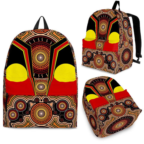 1stAustralia Backpack - Aboriginal With Dot Painting Art - BN17