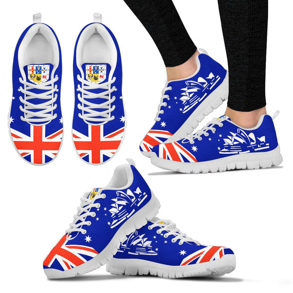 1stAustralia Sneakers - Sydney Opera Shoes Coat Of Arms Aus Flag - Unisex - Nn6