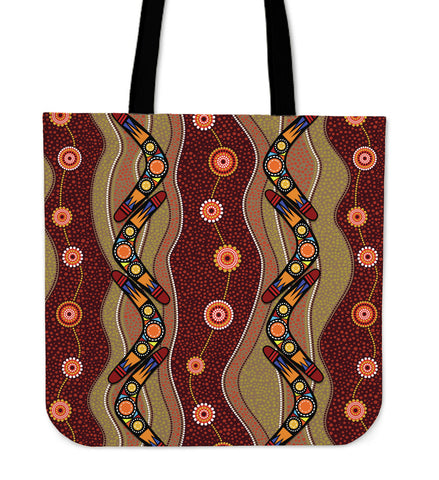 1stAustralia Tote Bag - Aboriginal Tote Bag Boomerang Patterns