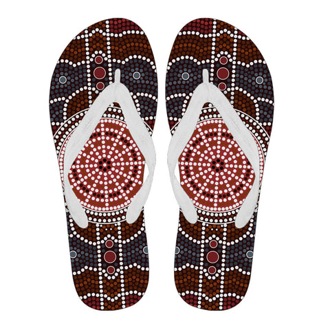 Image of Australia Flip Flops Aboriginal 03 TH1