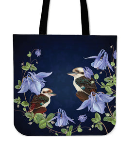 Australia Tote Bags Kookaburras With Bluebell