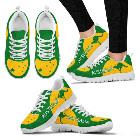Image of Australia Shoes Green And Yellow Sport Version Sole White