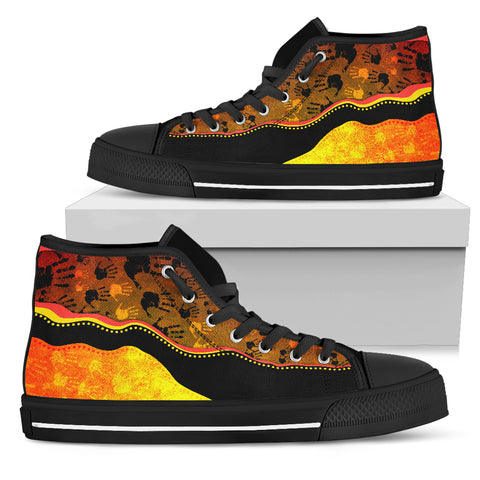 Australia Aboriginal Shoes (High Top) - Golden Style