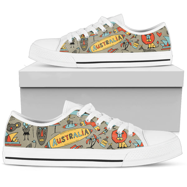 1stAustralia Canvas Shoes - Symbols Shoes Australia Famous - Low Top - Th1