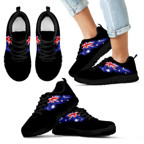 Australia Flag Wings Black Sneakers