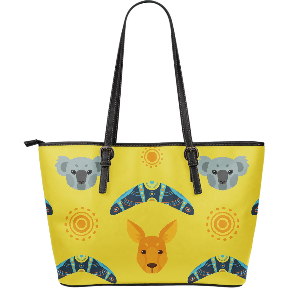 AUSTRALIA KANGAROO KOALA LARGE LEATHER TOTE BAG 08 E7 1ST
