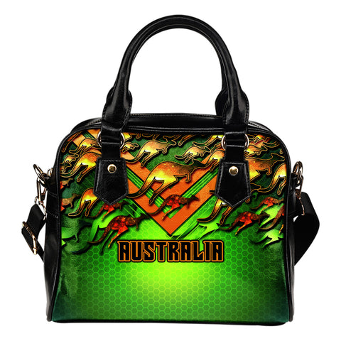 1stAustralia Shoulder Handbag - Australian Kangaroo Bags Aussie National Colors
