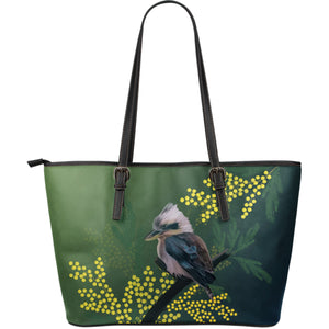 Australia Leather Tote Bags Kookaburra With Mimosa