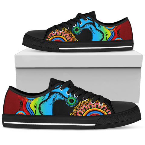 1stAustralia Low Top Shoes - Aboriginal Shoes Blue Dream