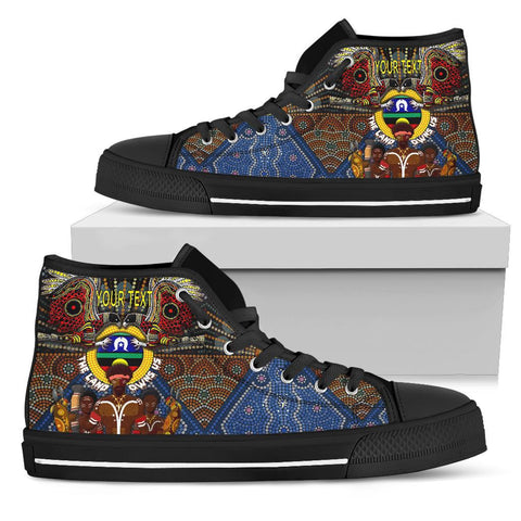 (Custom Text) 1stAustralia The Land Owns Us High Top Shoe - BN21