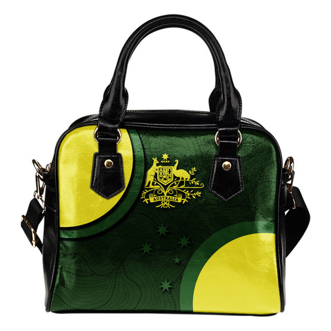1stAustralia Shoulder Handbag - Australia Coat of Arms Bags National Colors
