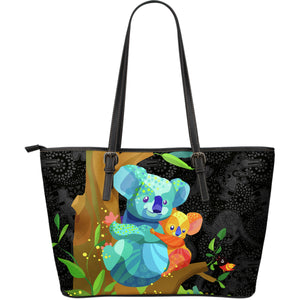 Australia Leather Tote Bags Koalas Cartoon