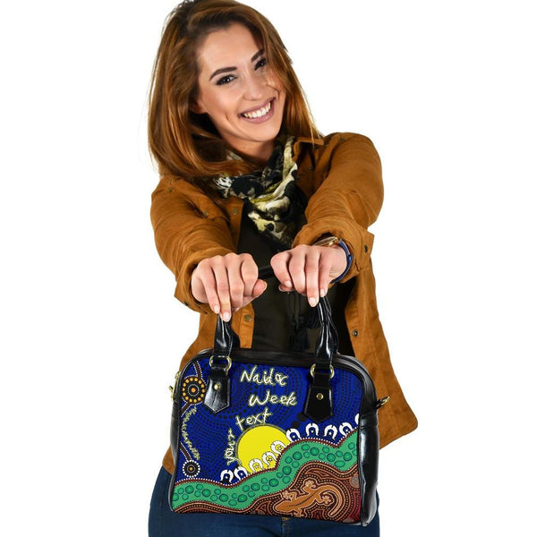 (Custom) 1stAustralia Shoulder Handbags - Aboriginal Naidoc Week Style - BN17