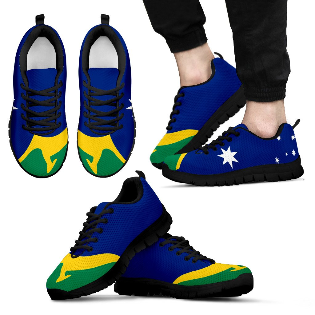 Australia Flag With Kangaroo MenS / WomenS Sneakers (Shoes) Nn8 1ST