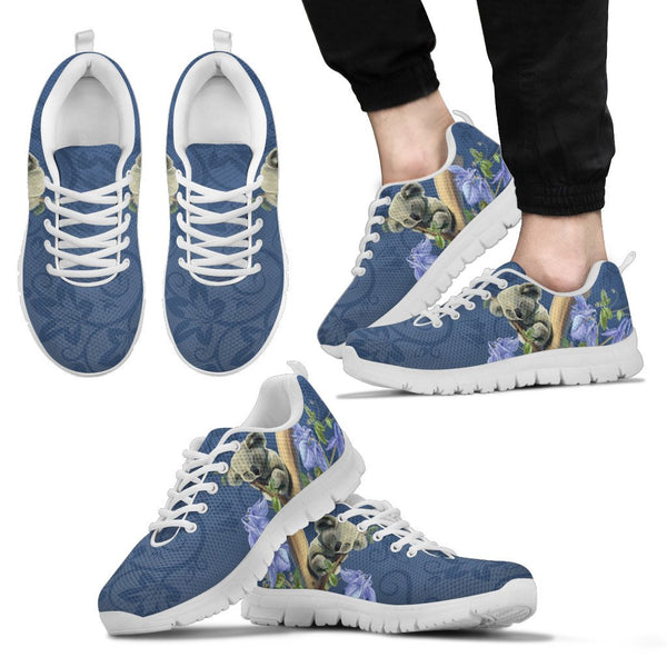 1stAustralia Sneakers - Koala Sleep Shoes Bluebell Flower Patterns - Unisex - Nn8