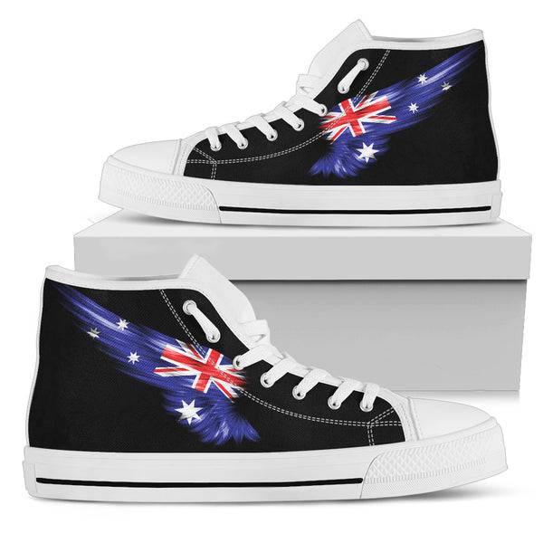 1stAustralia Canvas Shoes - Aus Flag Shoes Wing - High Top
