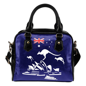 Australia Shoulder Handbag Flag Kangaroo And Sydney Opera Th9