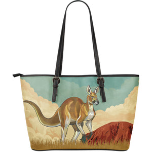 Australia Leather Tote Bag Kangaroo