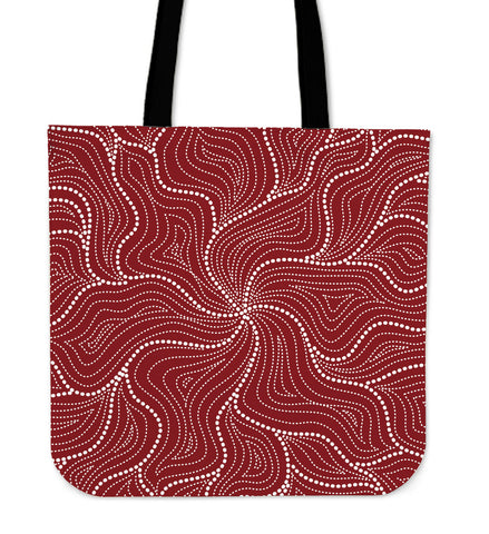 1stAustralia Aboriginal Tote Bag, Australian Red Dot Painting Bag