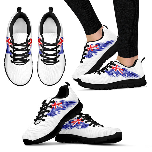 Australia Flag Wings White Sneakers