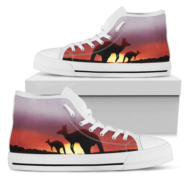 1stAustralia Canvas Shoes - Kangaroo Shoes Sunset Ver07 - High Top - Th1