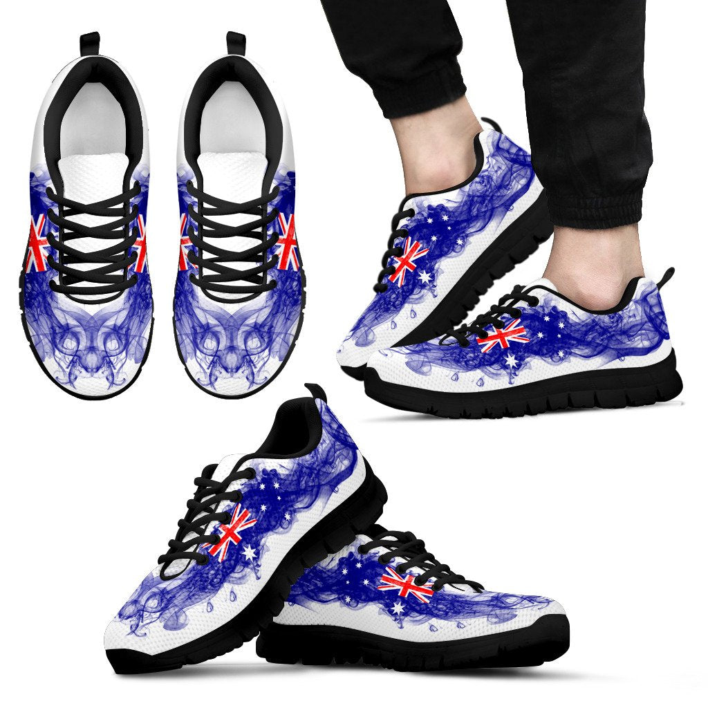 1stAustralia Sneakers - Aus Flag Shoes Smoke Style - Unisex - K7