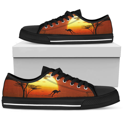 Australia Low Top Shoes Kangaroo Sunset