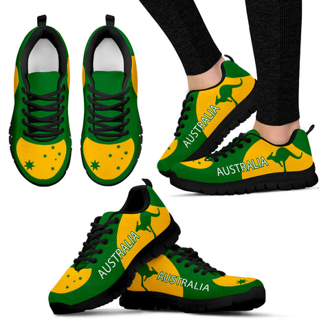 Australia Shoes Green And Yellow Sport Version Sole Black