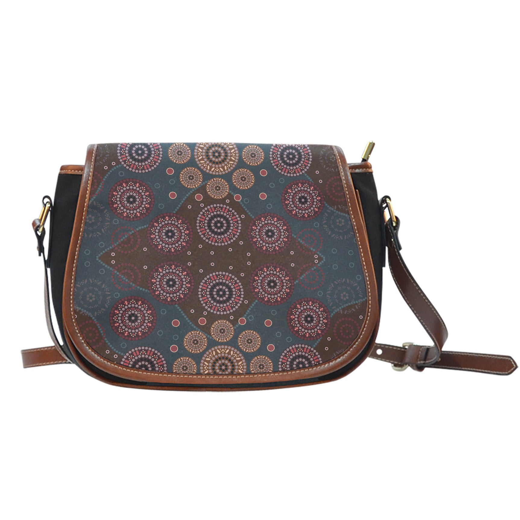 Australia Aboriginal in Red Saddle Bags
