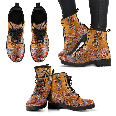 1stAustralia Leather Boots - Australia Pattern Shoes - Unisex - Bn14