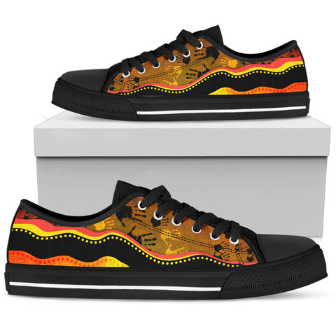 Australia Aboriginal Shoes (Low Top) - Golden Style