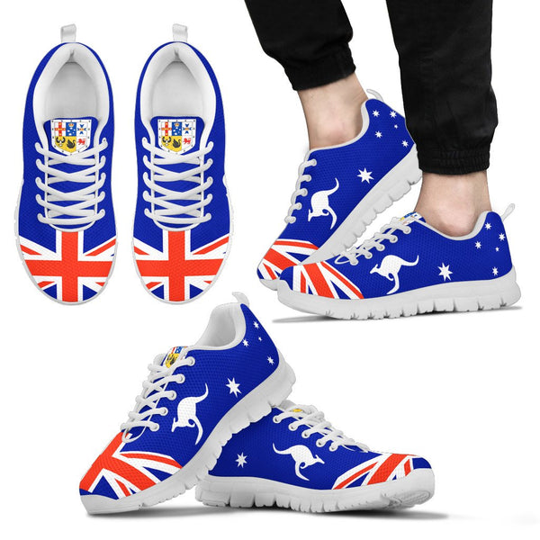 1stAustralia Sneakers - Aus Flag Shoes Coat Of Arms Kangaroo - Unisex - Nn6