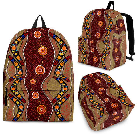 1stAustralia Backpack - Aboriginal Backpack Boomerang Patterns
