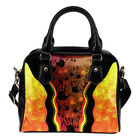 Australia Aboriginal Shoulder Handbag - Golden Style